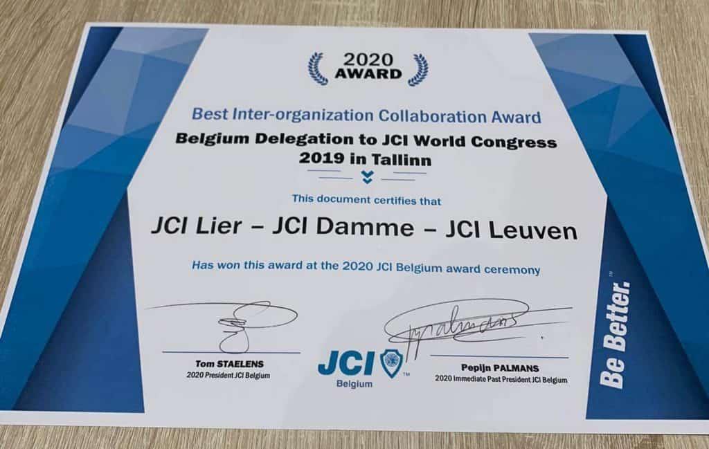 JCI Belgium Awards 2020