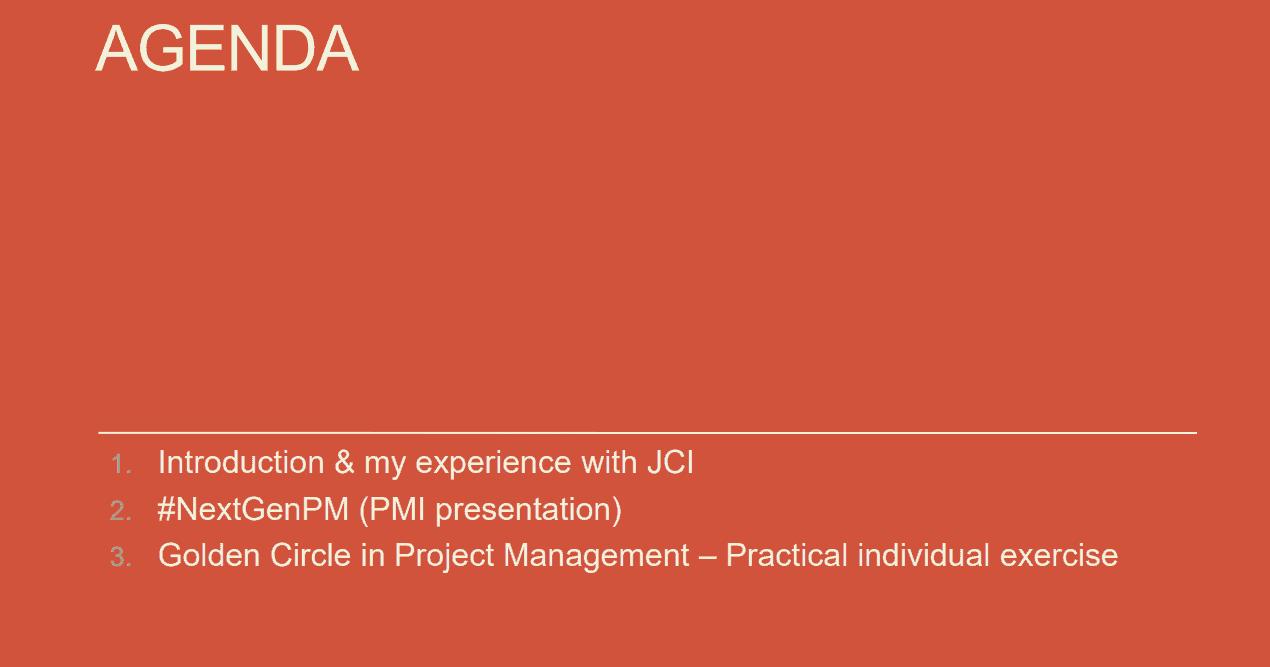 jci vorming project management